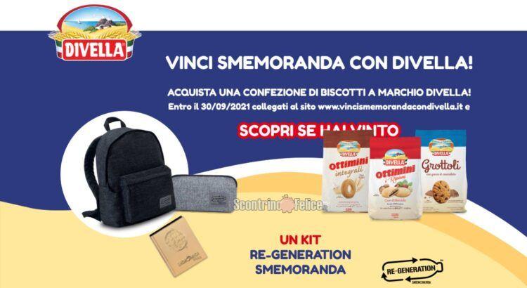 Concorso biscotti Divella: in palio 100 kit RE-GENERATION Smemoranda