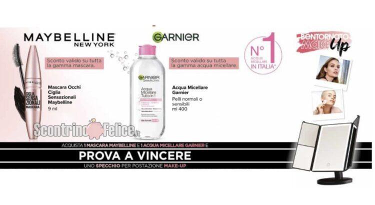 Concorso Garnier e Maybelline vinci uno specchio per postazione make-up