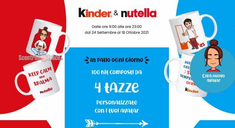 Concorso Nutella Kinder Delacre WeLoveColazione 2021 vinci tazze con avatar