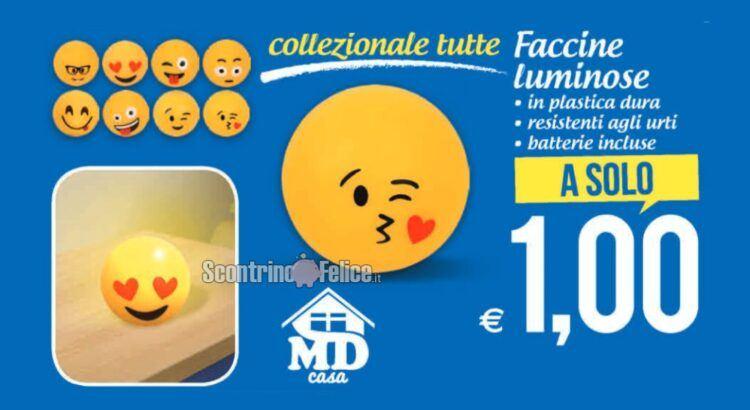 Faccine emoji luminose a solo 1 euro da MD: scopri come averle!