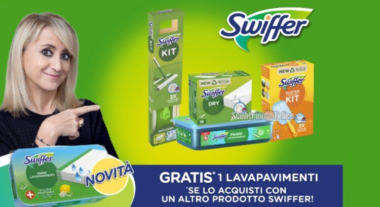 Swiffer Lavapavimenti Cashback ricevi il rimborso di 1 prodotto Swiffer Wet