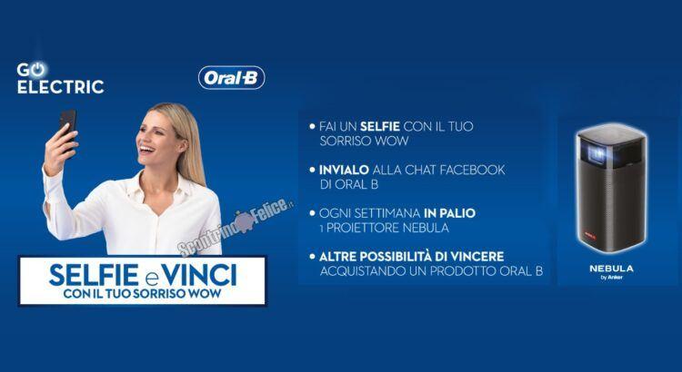 Concorso Vinci con il selfie Oral-B in palio 22 Proiettori Nebula Anker