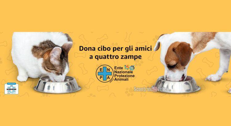 Dona cibo per cani e gatti con Amazon